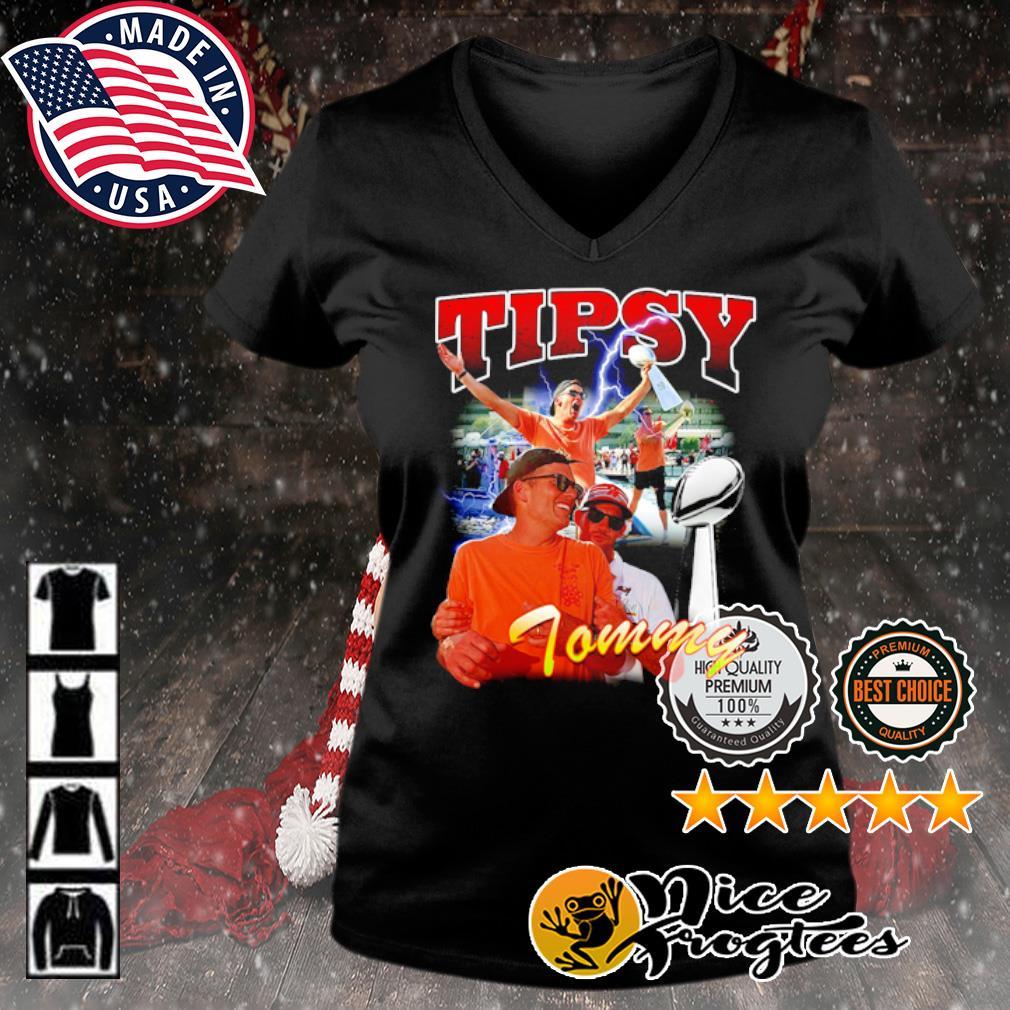 Tom Brady Tipsy Tommy s v-neck-t-shirt