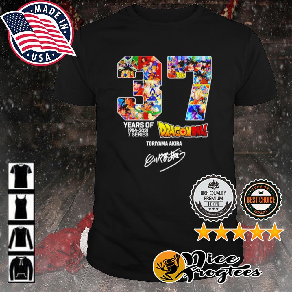 37 years of 1984 2021 7 series Dragon Ball signature shirt