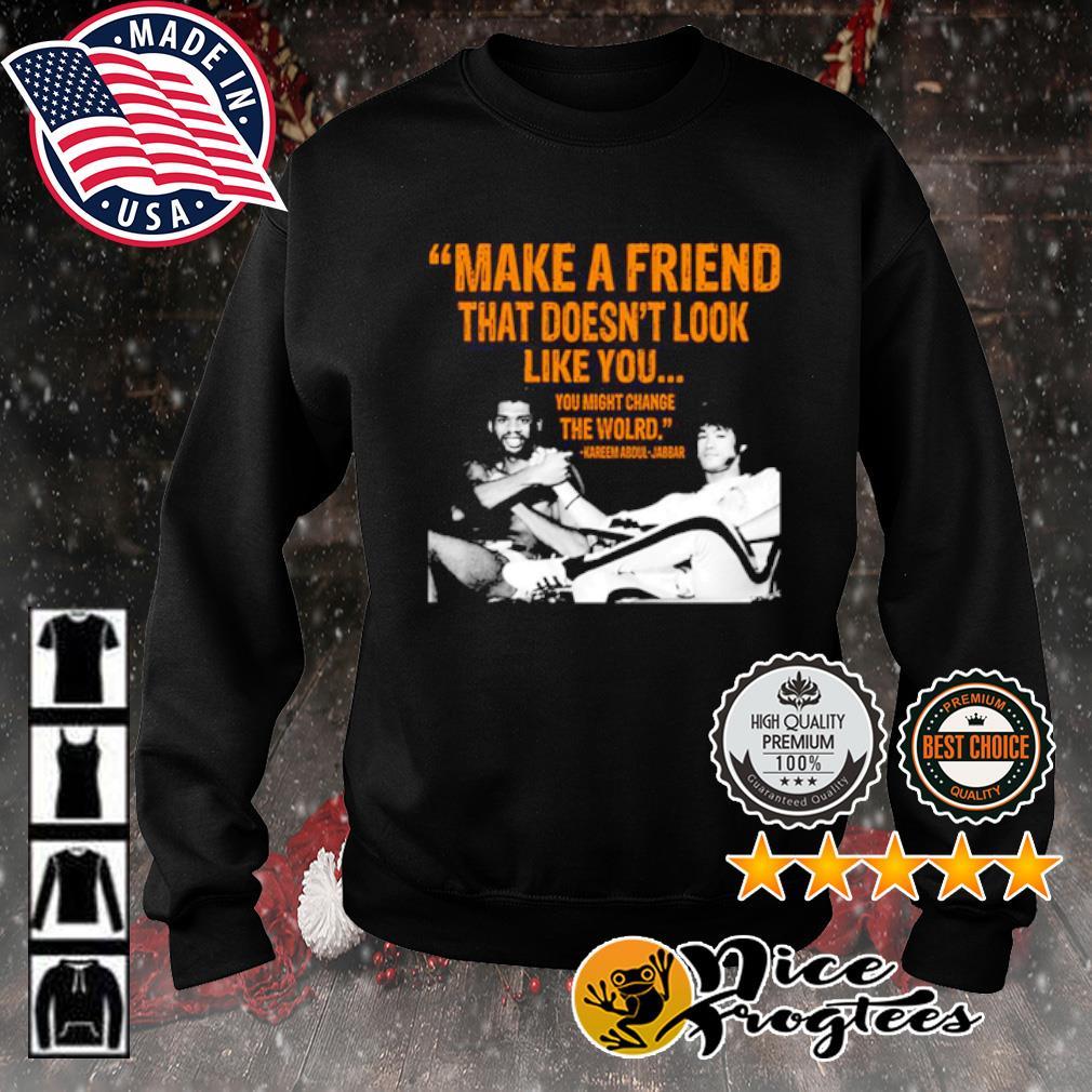 Kareem Abdul-Jabbar make a friend that doesn't look like you s sweater