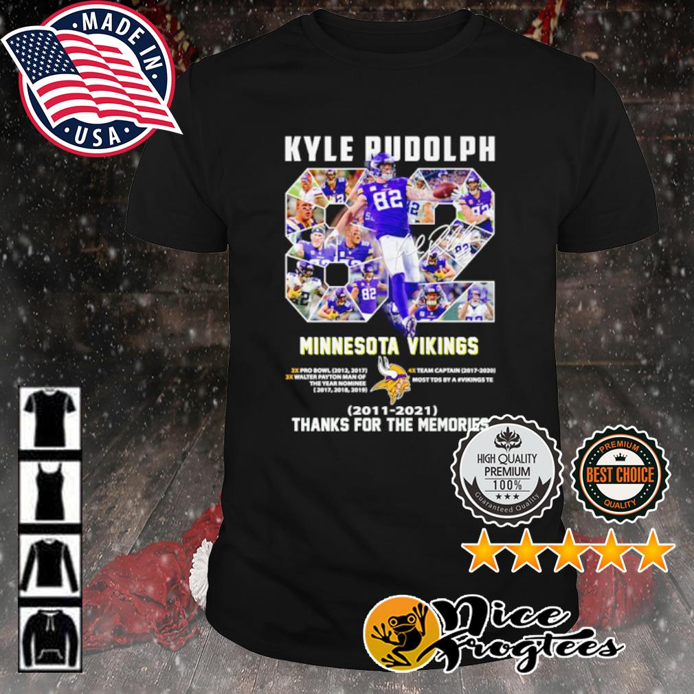 Kyle Rudolph 92 Minnesota Vikings 2011 2021 thank you for the memories shirt