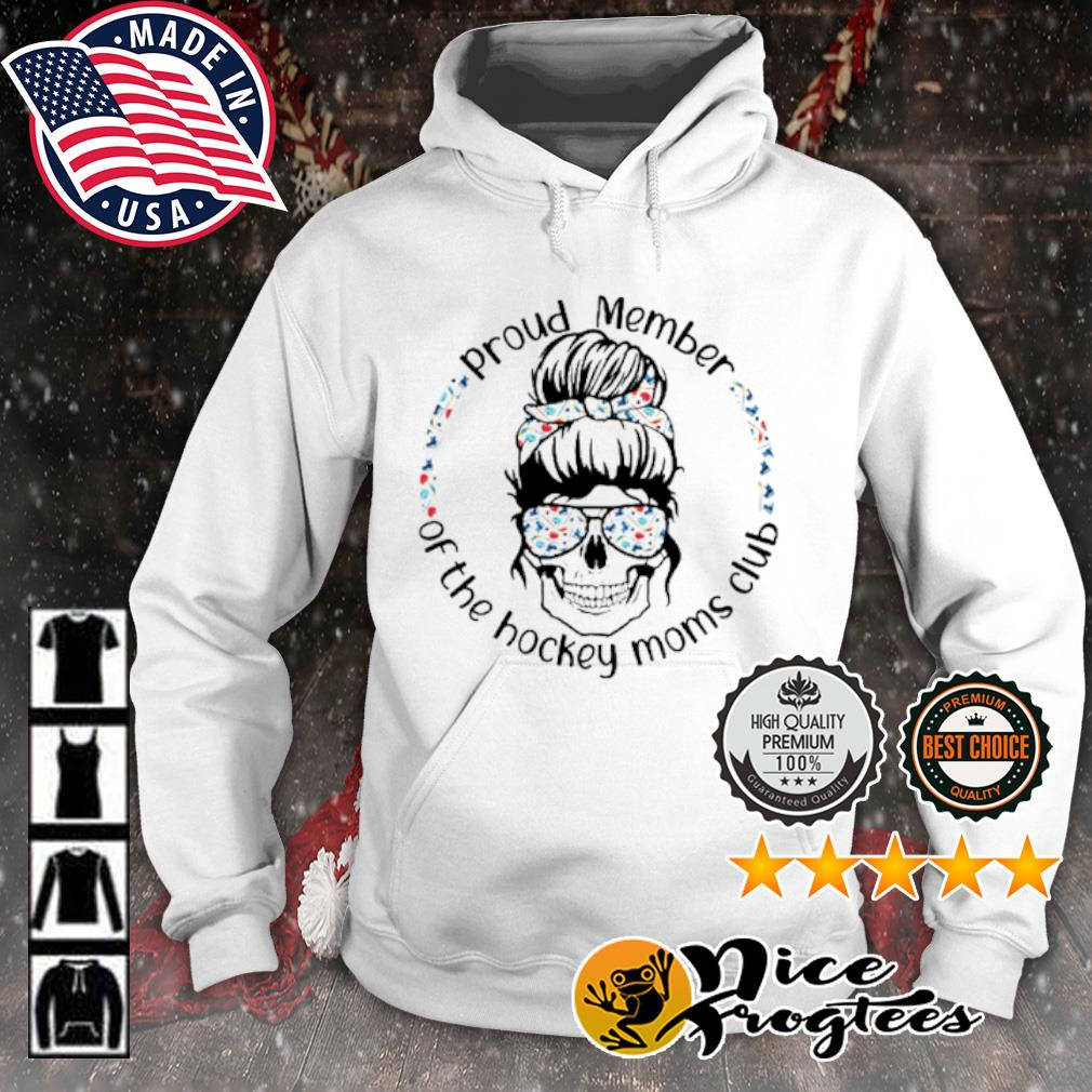 Skull woman Proud member of the hockey moms club s hoodie