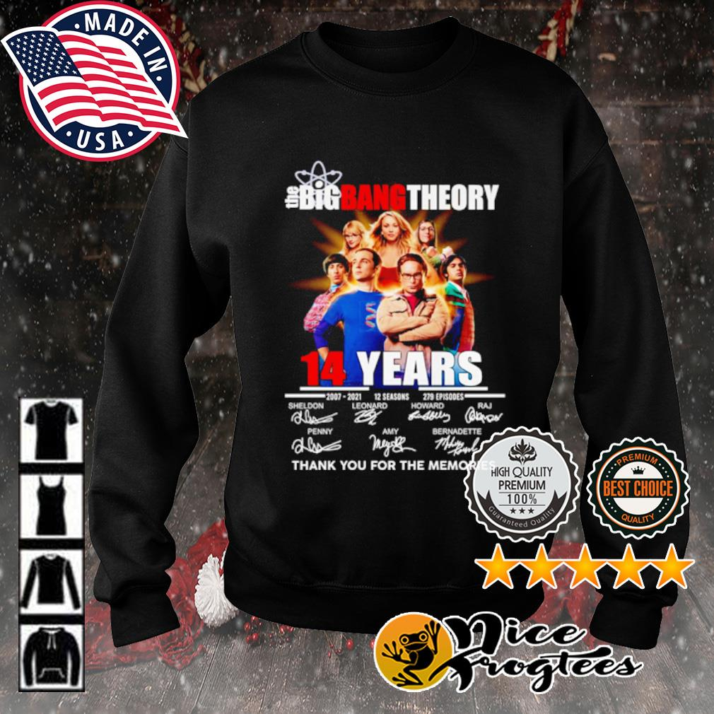 The Big Bang Theory 14 years 2007 2021 12 seasons 279 episodes thank you for the memories s sweater