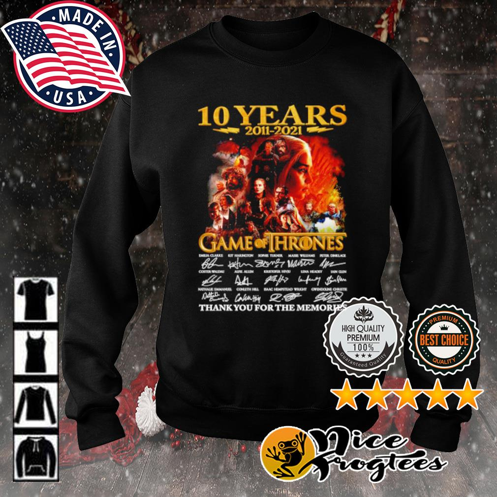 10 years 2011 2021 Game of Thrones thank you for the memories signature s sweater