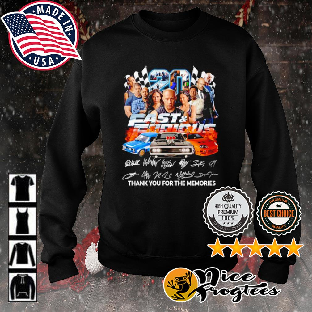 20 years Fast and Furious thank you for the memories signature s sweater