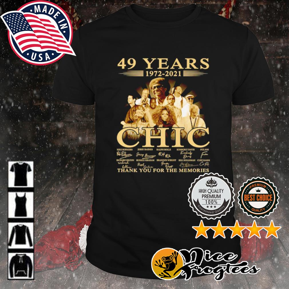 49 years 1972 2021 Chic thank you for the memories signature shirt