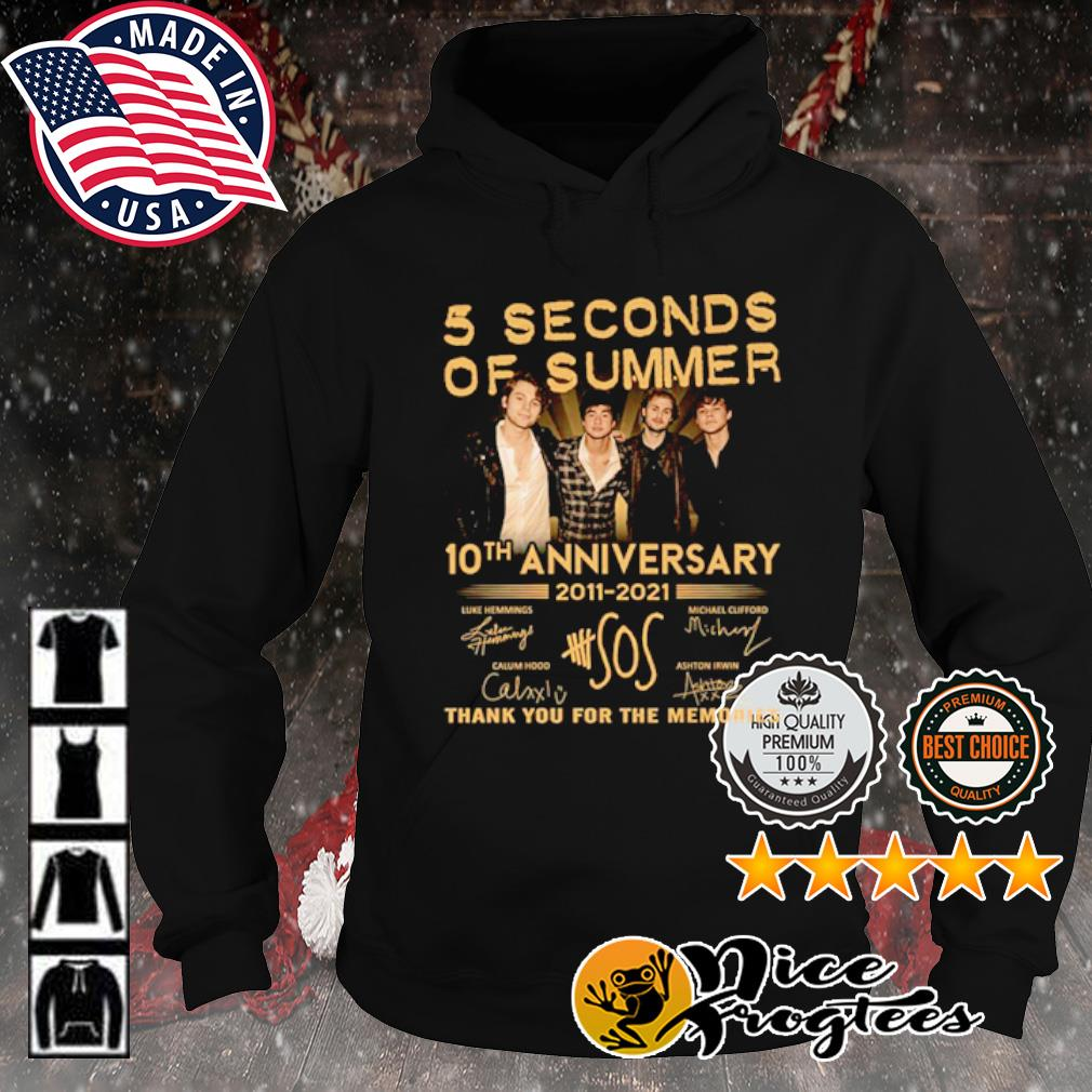 5 Seconds Of Summer 10th anniversary 2011 2021 thank you for the memories signature s hoodie