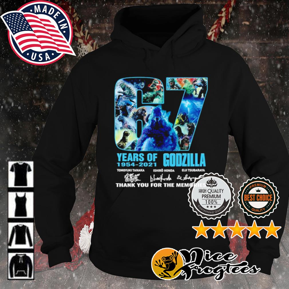 67 years of Godzilla 1954 2021 thank you for the memories signature s hoodie