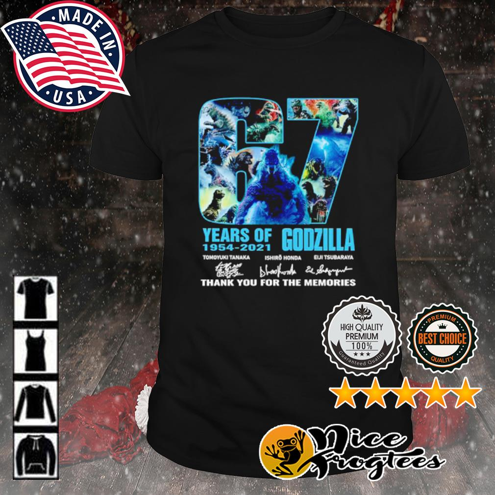 67 years of Godzilla 1954 2021 thank you for the memories signature shirt