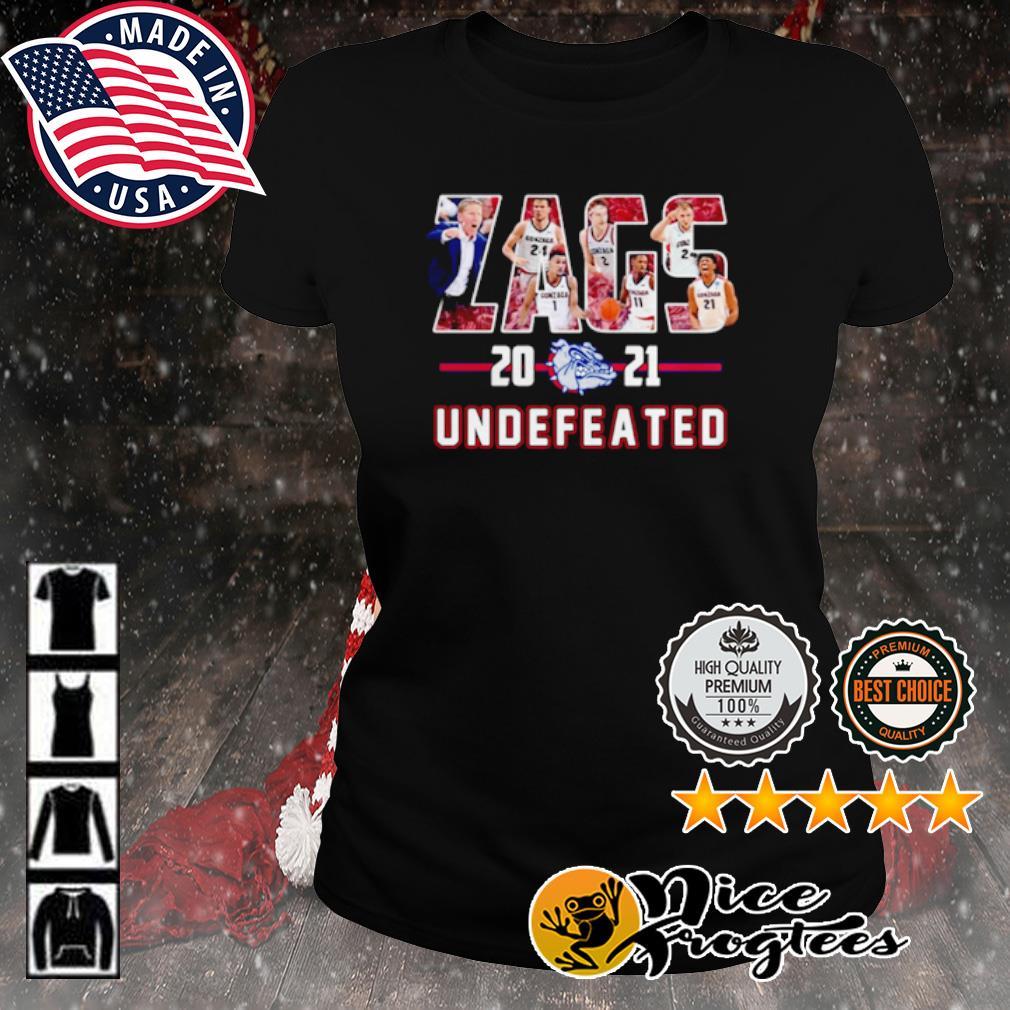 Gonzaga Bulldogs Zags 2021 Undefeated s ladies-tee