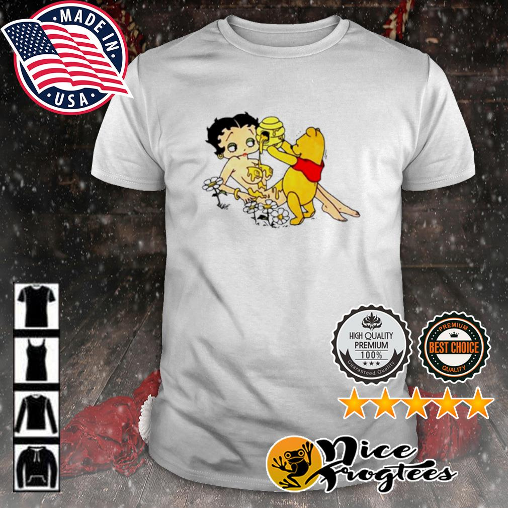 Betty Boop and winnie Pooh love honey nudes shirt