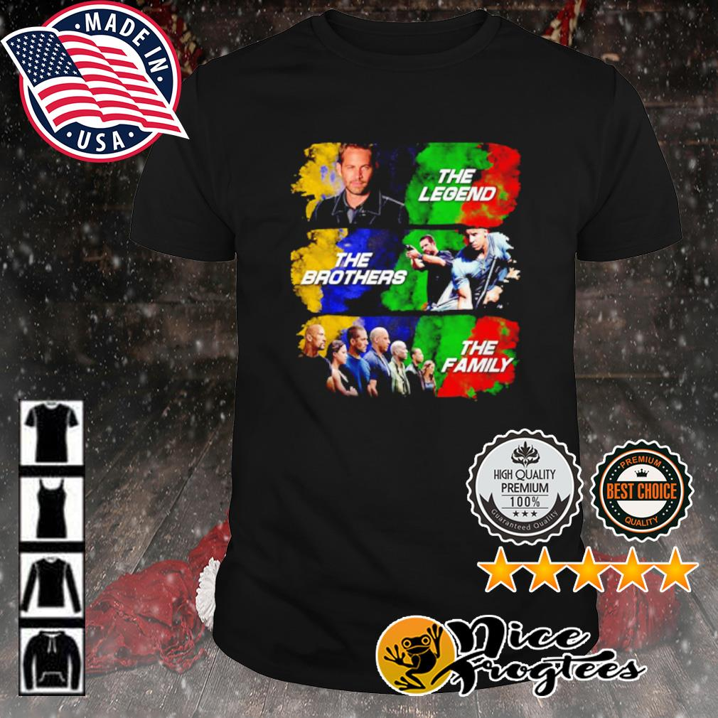 Brian O'Conner the legend Dominic Toretto the brothers Fast and Furious the family shirt