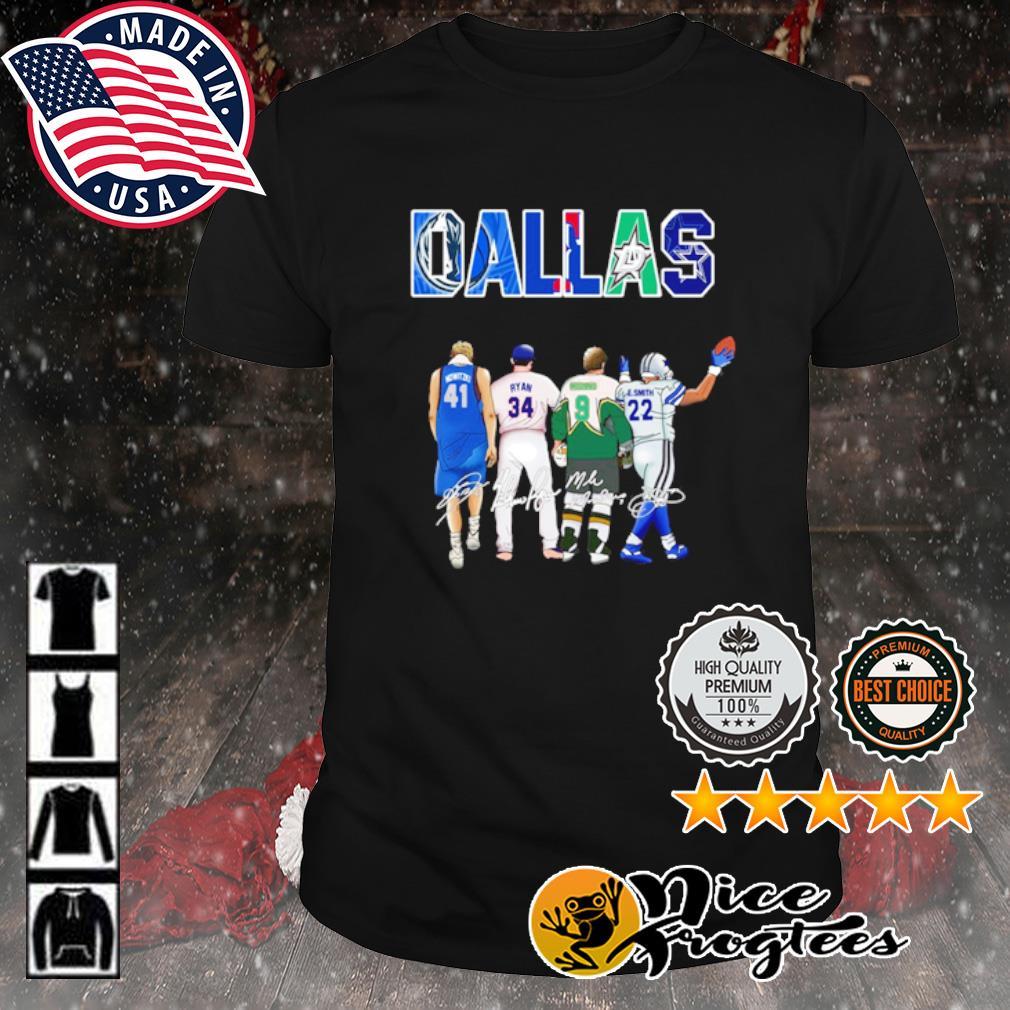 Dallas Dirk Nowitzki Ryan Williams Mike Modano's Emmitt Smith signature shirt