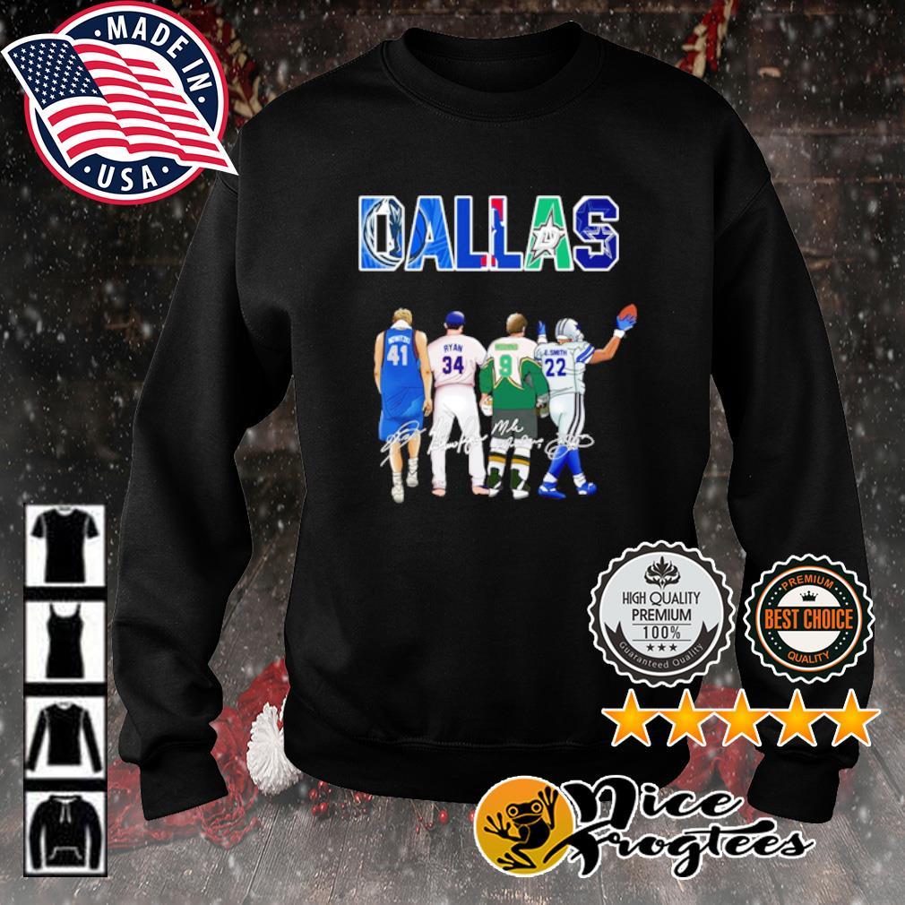 Dallas Dirk Nowitzki Ryan Williams Mike Modano's Emmitt Smith signature s sweater