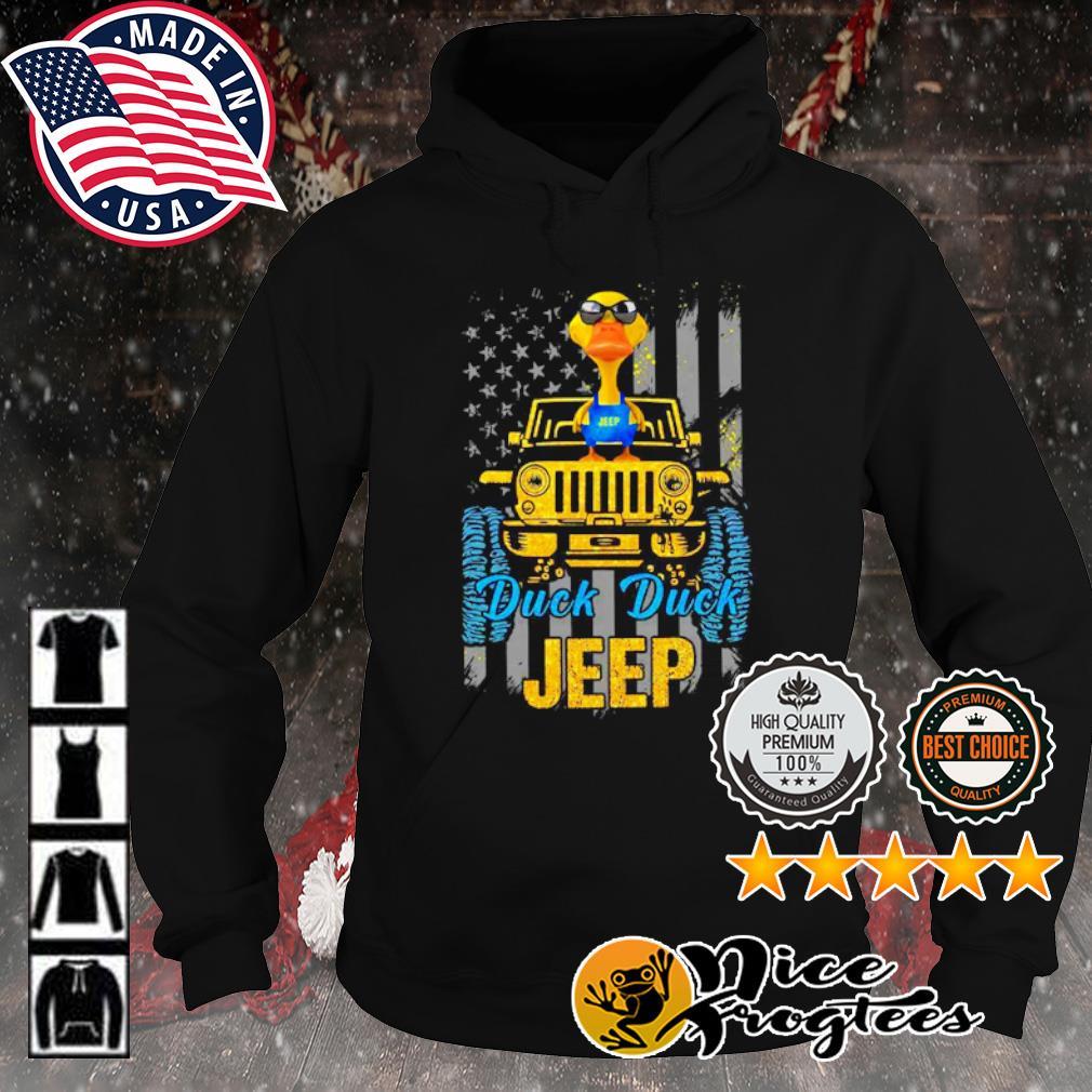 Duck duck Jeep American flag s hoodie
