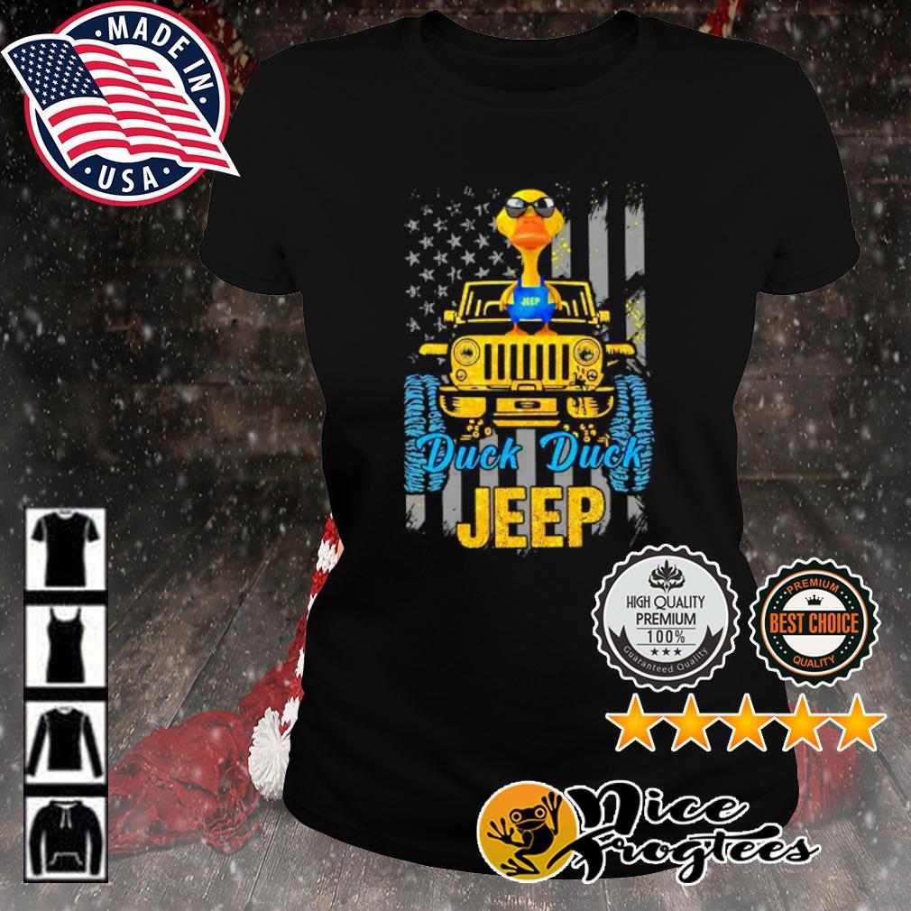 Duck duck Jeep American flag s ladies-tee