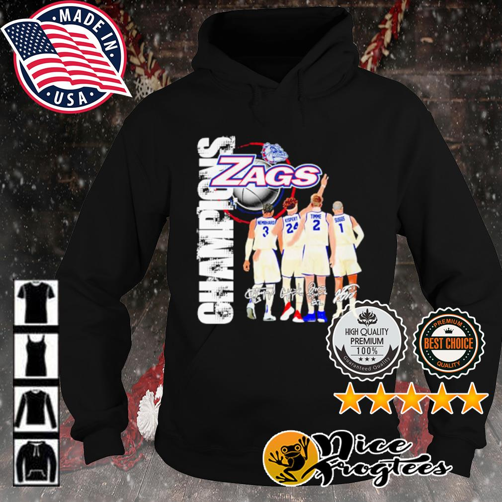 Gonzaga Bulldogs basketball Champions signature 2021 s hoodie