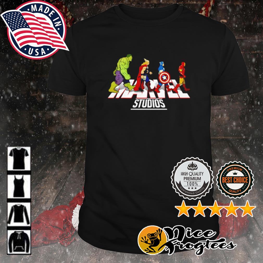 Hulk Thor Captain America and Iron Man Abbey Road Marvel Studios shirt