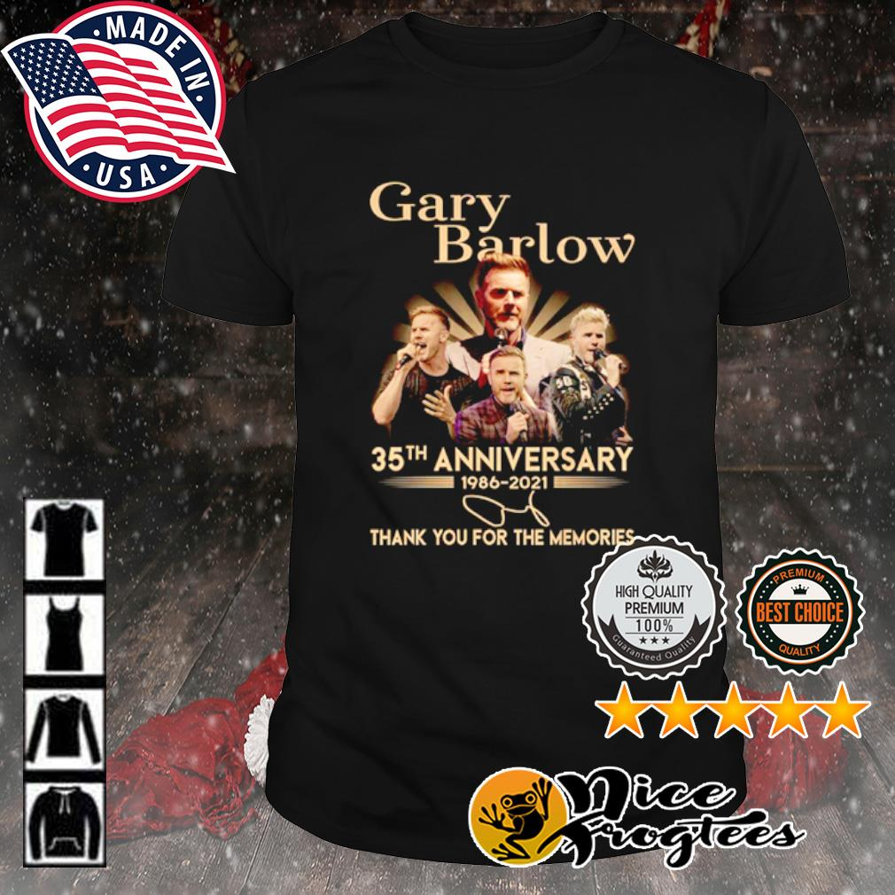 Gary Barlow 35th anniversary 1986 2021 thank you for the memories signature shirt