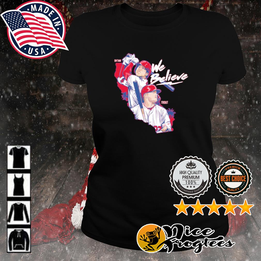 Los Angeles We Believe Ohtani and Trout s ladies-tee