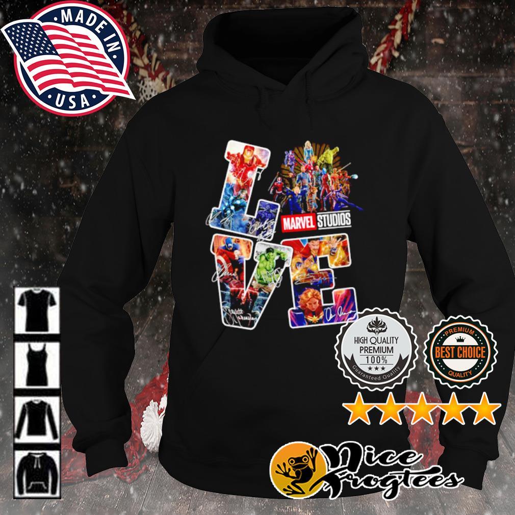 Love Marvel Studios signature s hoodie