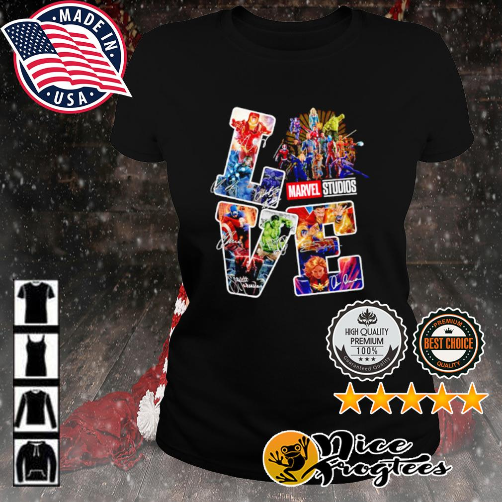 Love Marvel Studios signature s ladies-tee