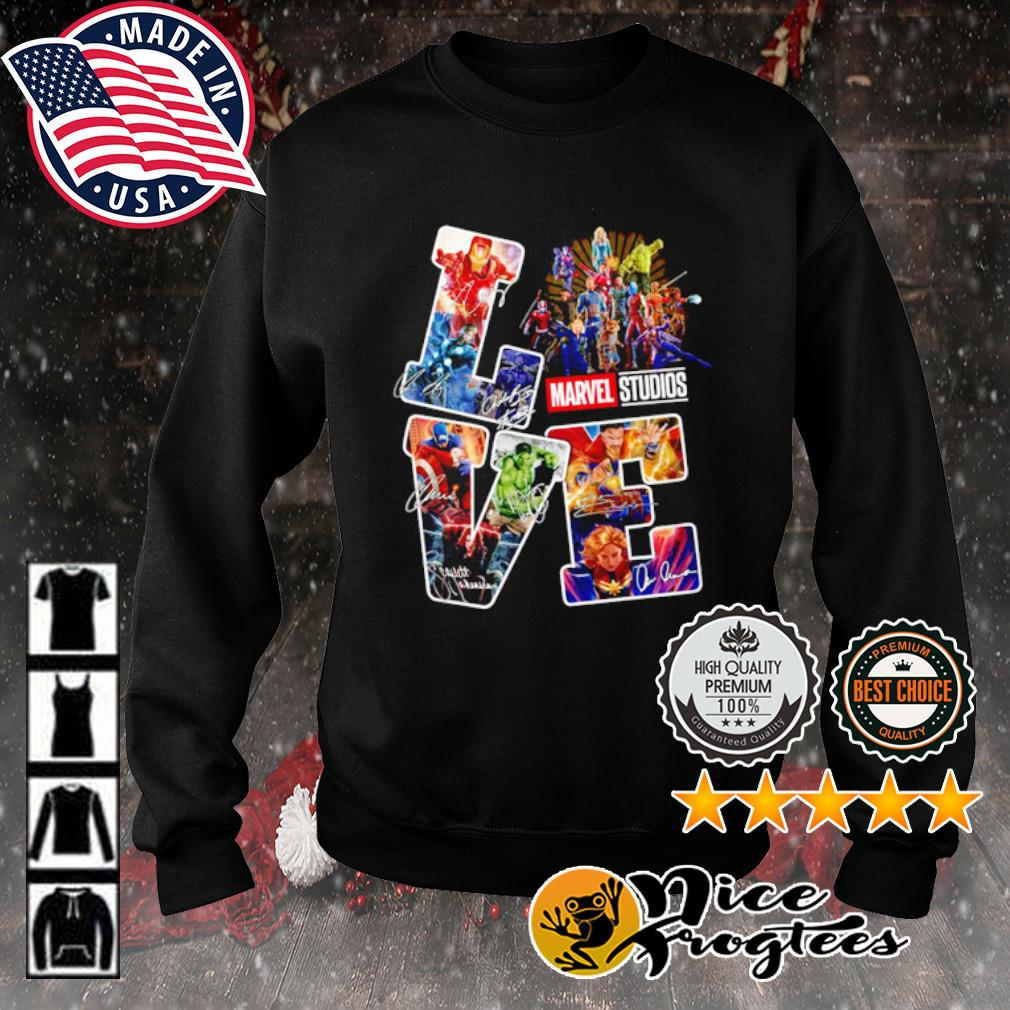 Love Marvel Studios signature s sweater