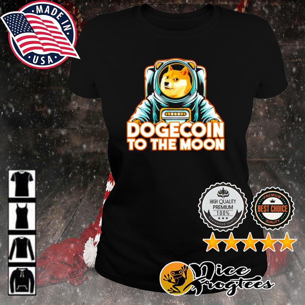 Shiba dogecoin to the moon s ladies-tee