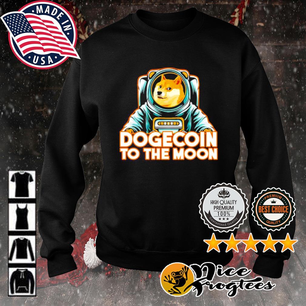 Shiba dogecoin to the moon s sweater