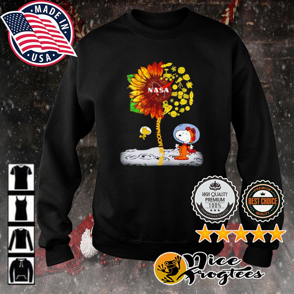 Snoopy and Woodstock explore moon to Mars NASA sunflower s sweater