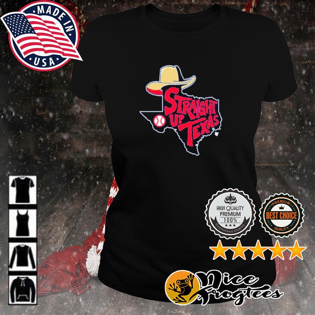 Straight Up Texas Baseball s ladies-tee