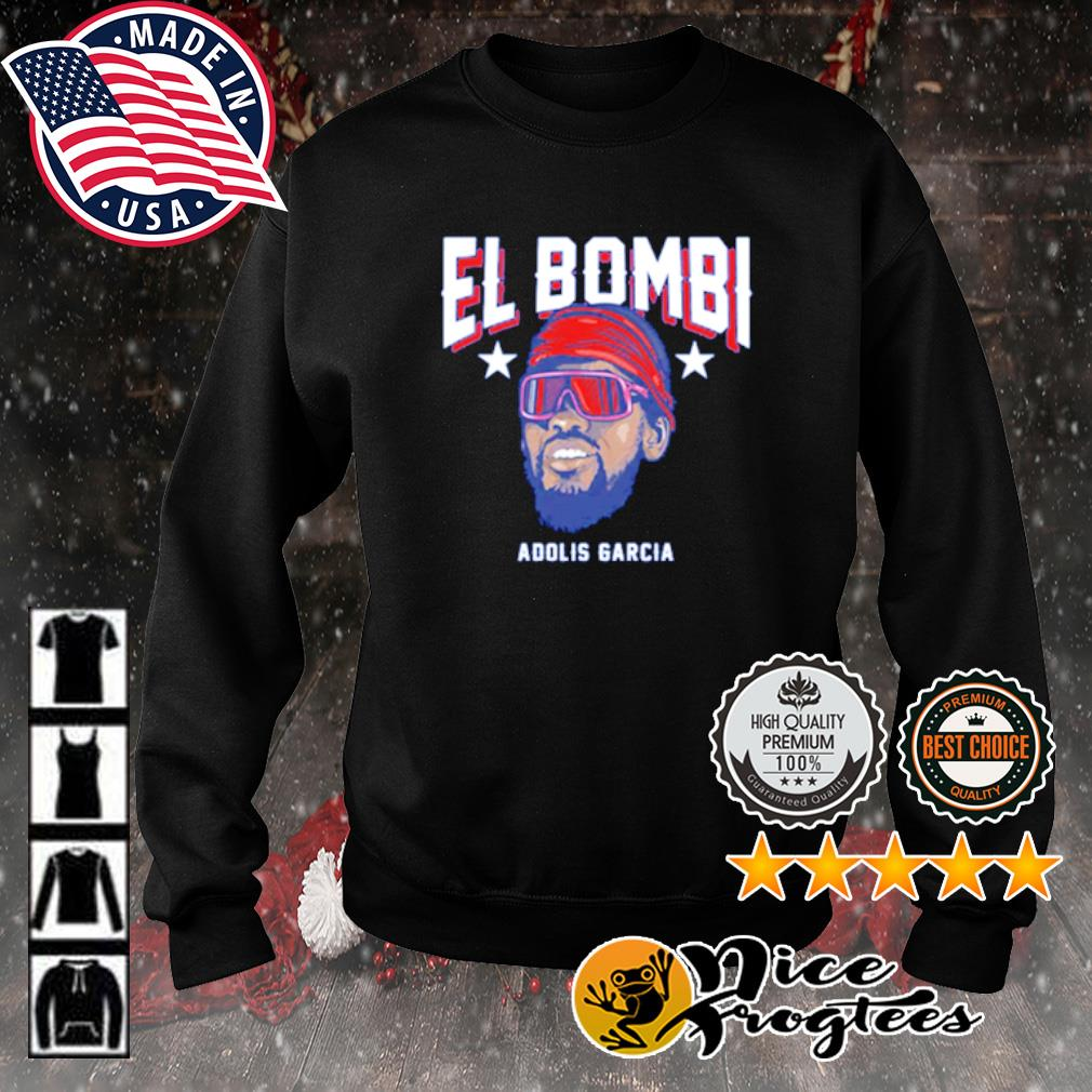 Texas Adolis García El Bombi s sweater