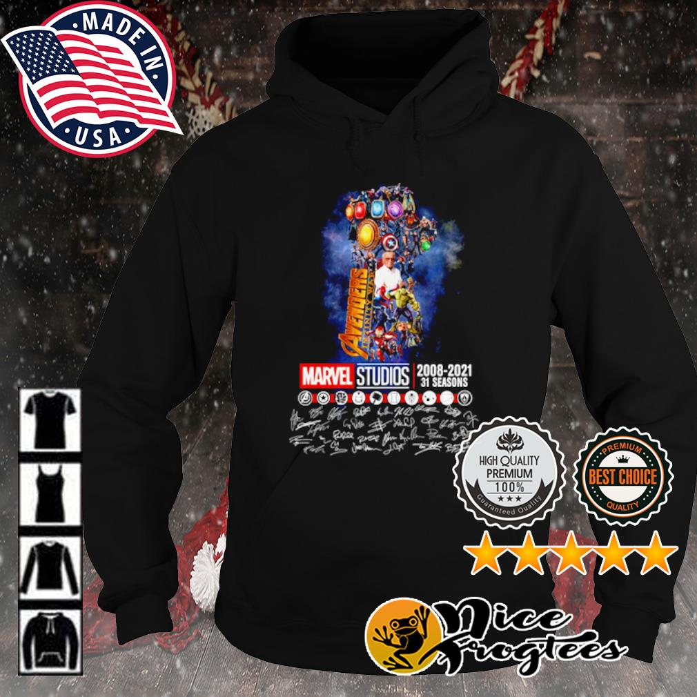 The Infinity Gauntlet Avengers Infinity War Marvel Studios 2008 2021 31 seasons signature s hoodie