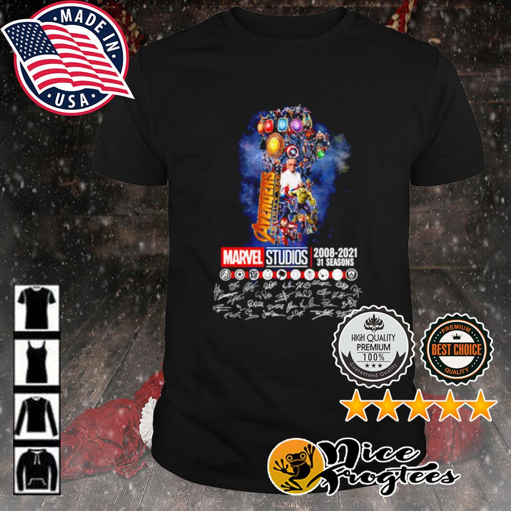 The Infinity Gauntlet Avengers Infinity War Marvel Studios 2008 2021 31 seasons signature shirt