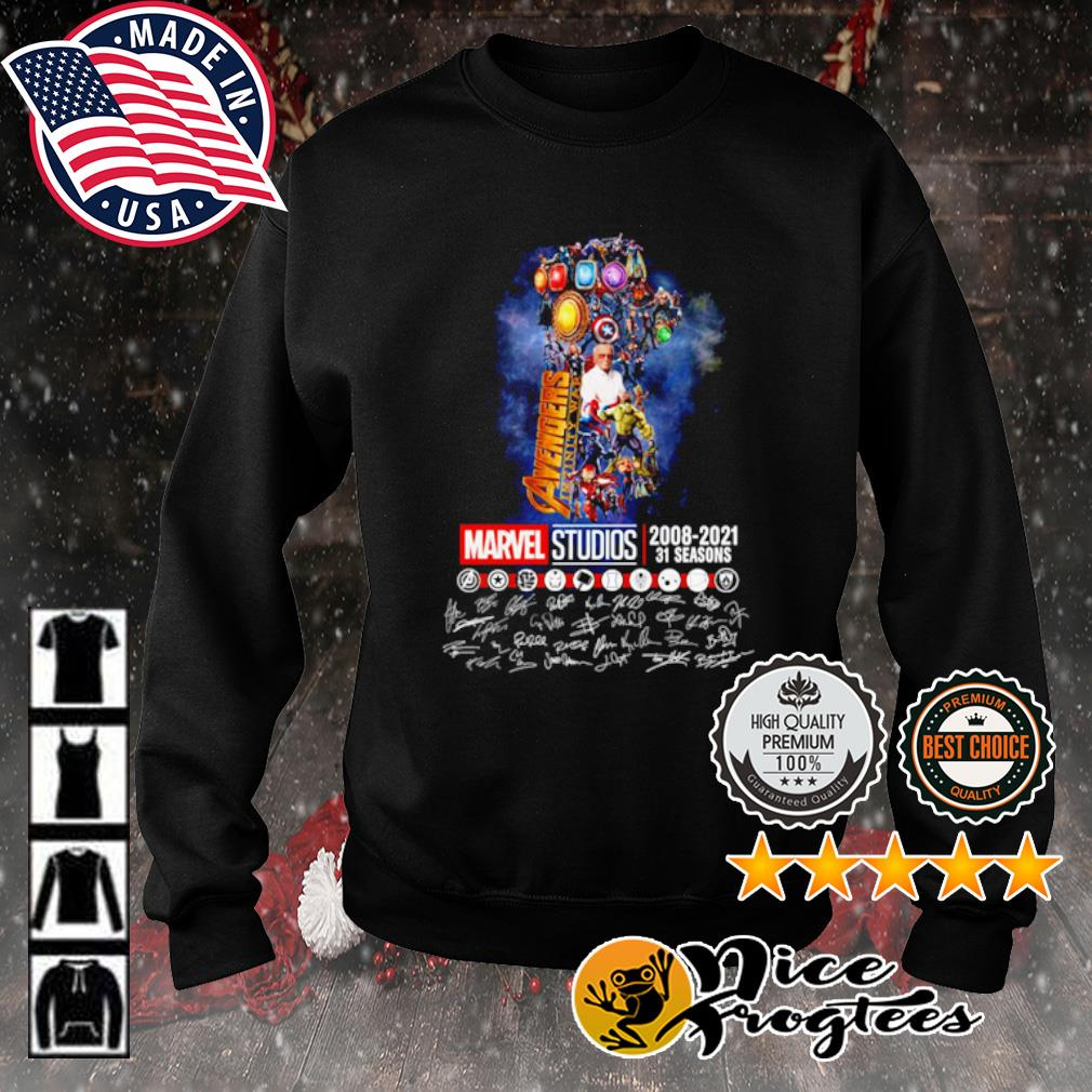 The Infinity Gauntlet Avengers Infinity War Marvel Studios 2008 2021 31 seasons signature s sweater
