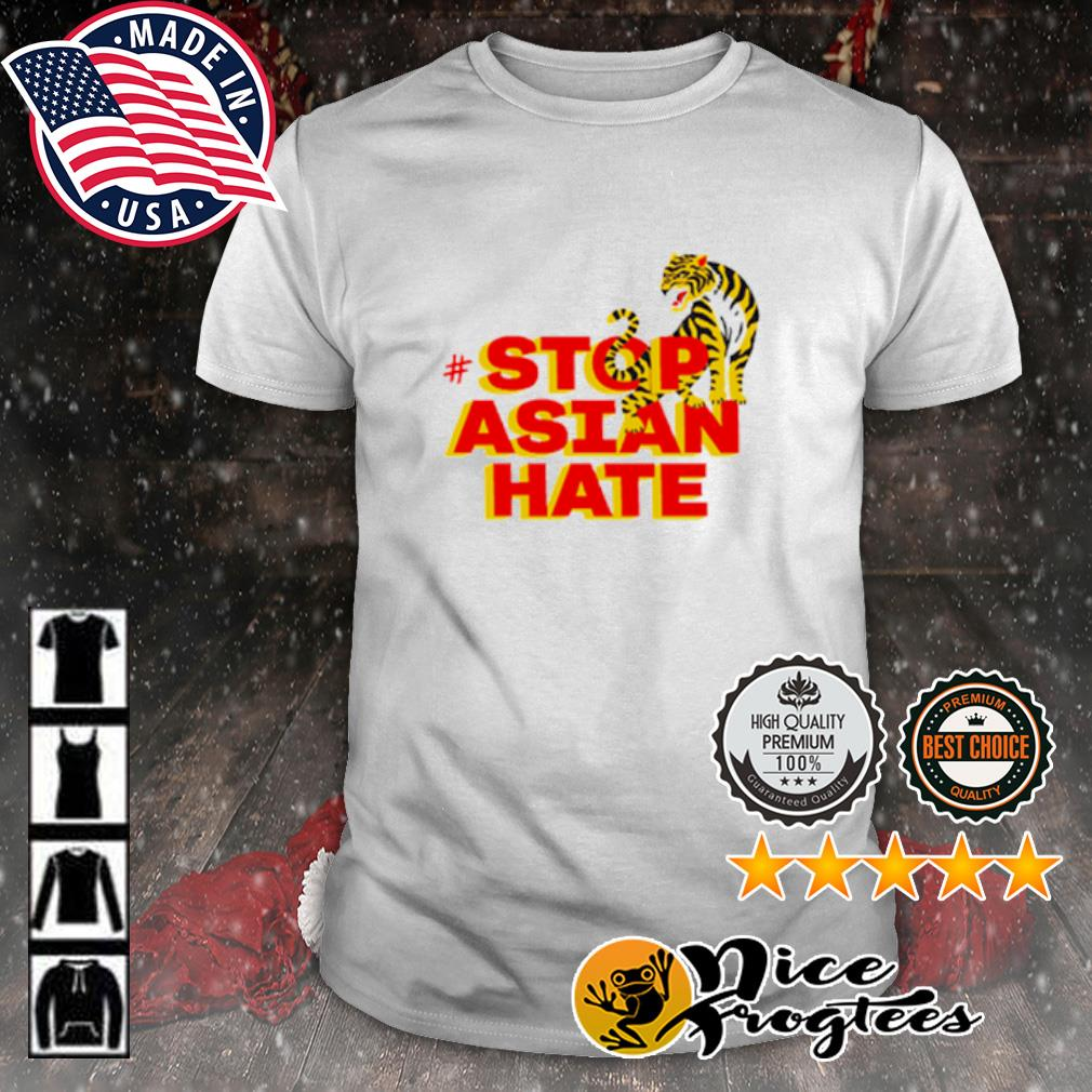 Tiger stop Asian hate shirt