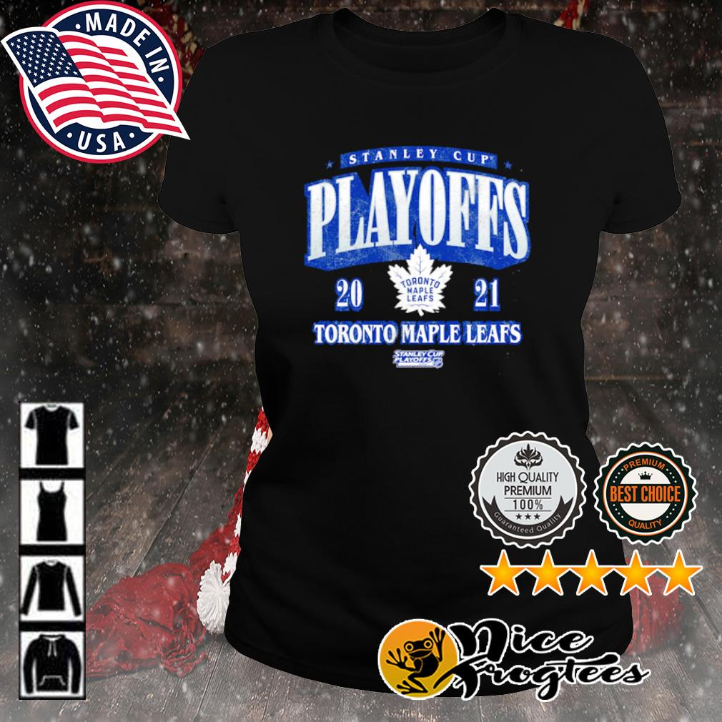 Toronto Maple Leafs 2021 Stanley Cup Playoffs Bound Ring the Alarm Tri-Blend s ladies-tee