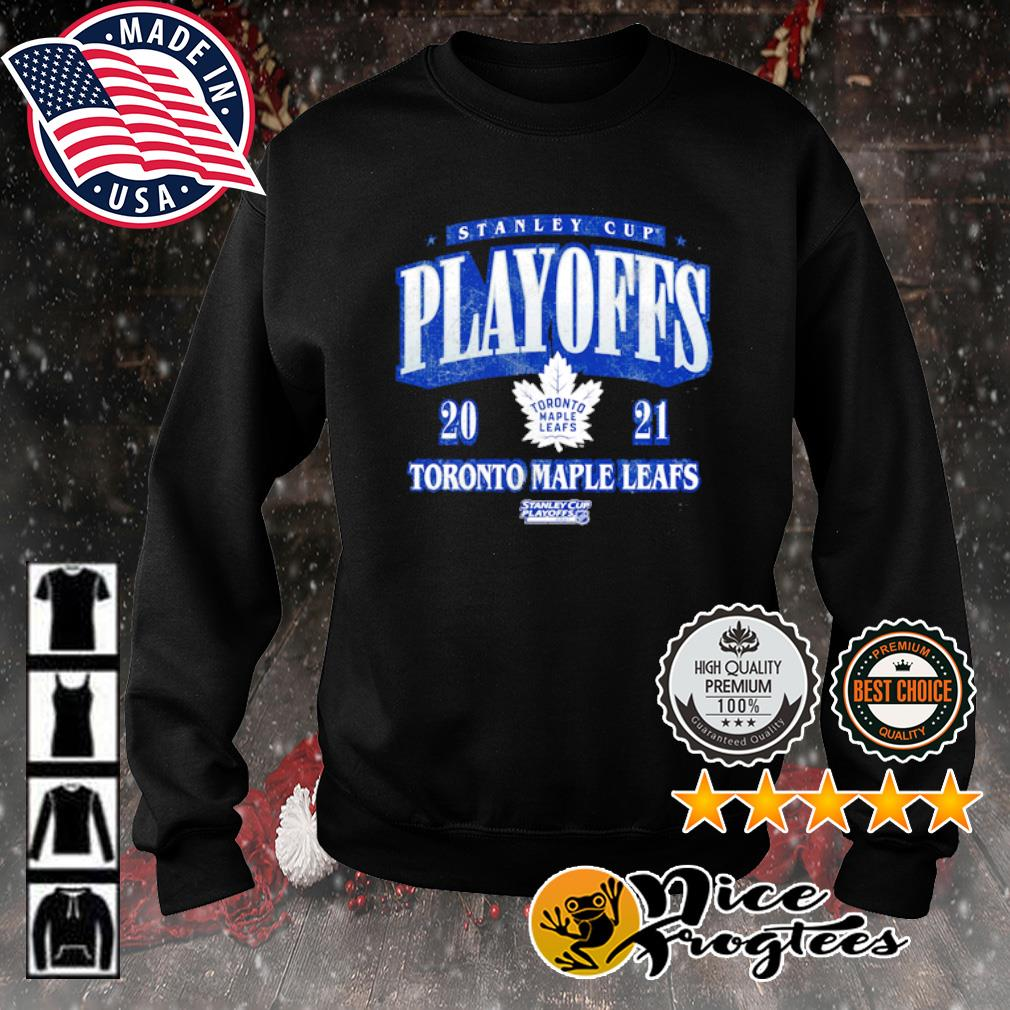Toronto Maple Leafs 2021 Stanley Cup Playoffs Bound Ring the Alarm Tri-Blend s sweater