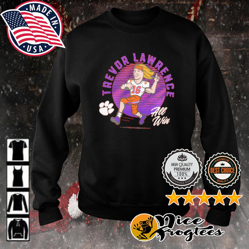 Trevor Lawrence Clemson Tigers all win s sweater