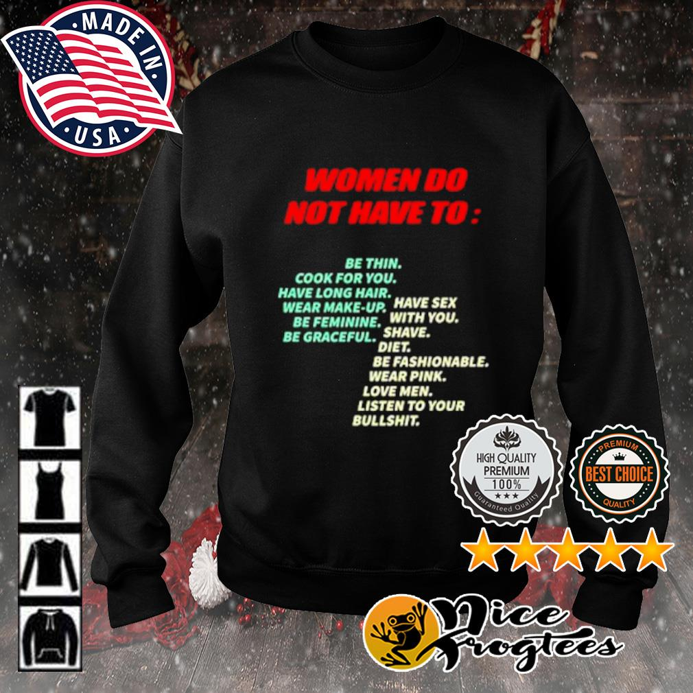 Women do not have to be thin cook for you s sweater