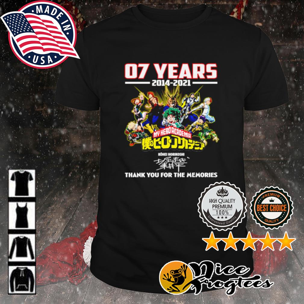 07 years 2014 2021 My hero academia thank you for the memories signature shirt