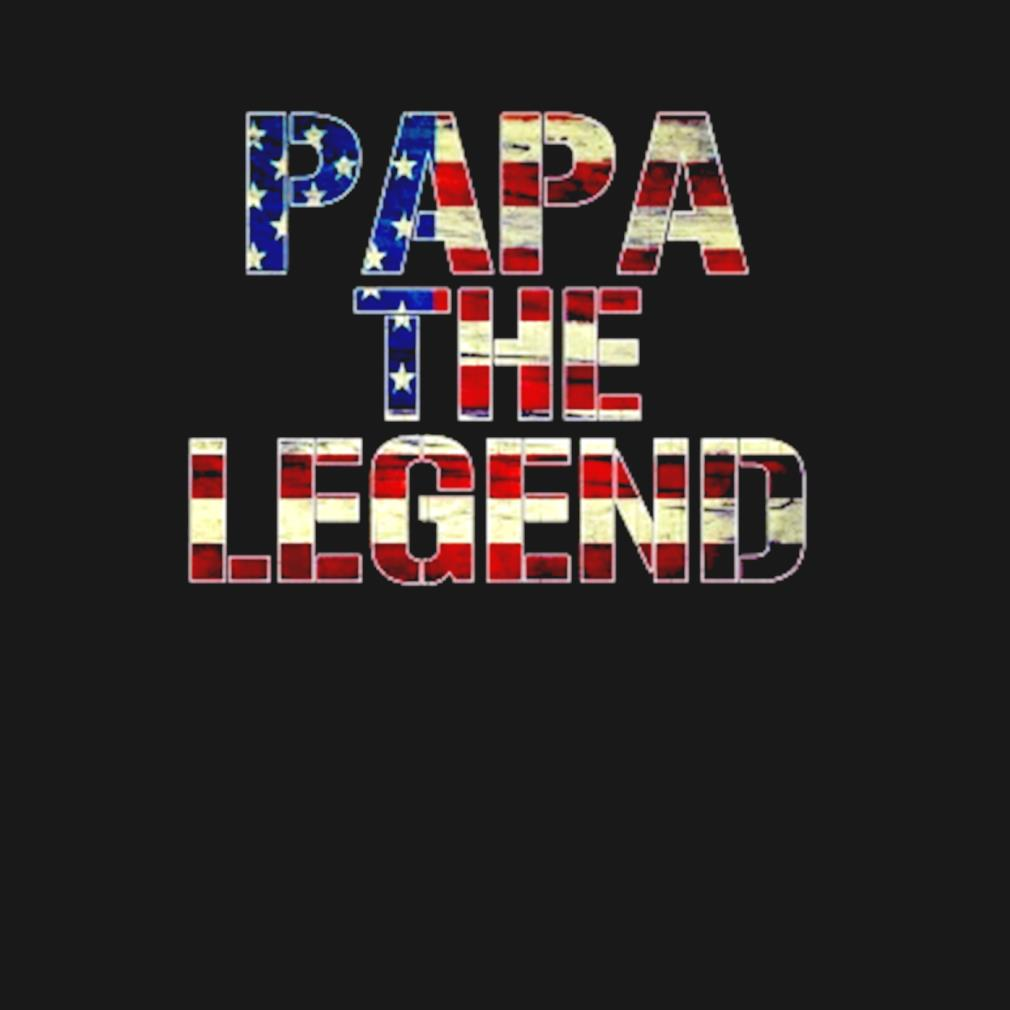 Papa the legend American flag s t-shirt