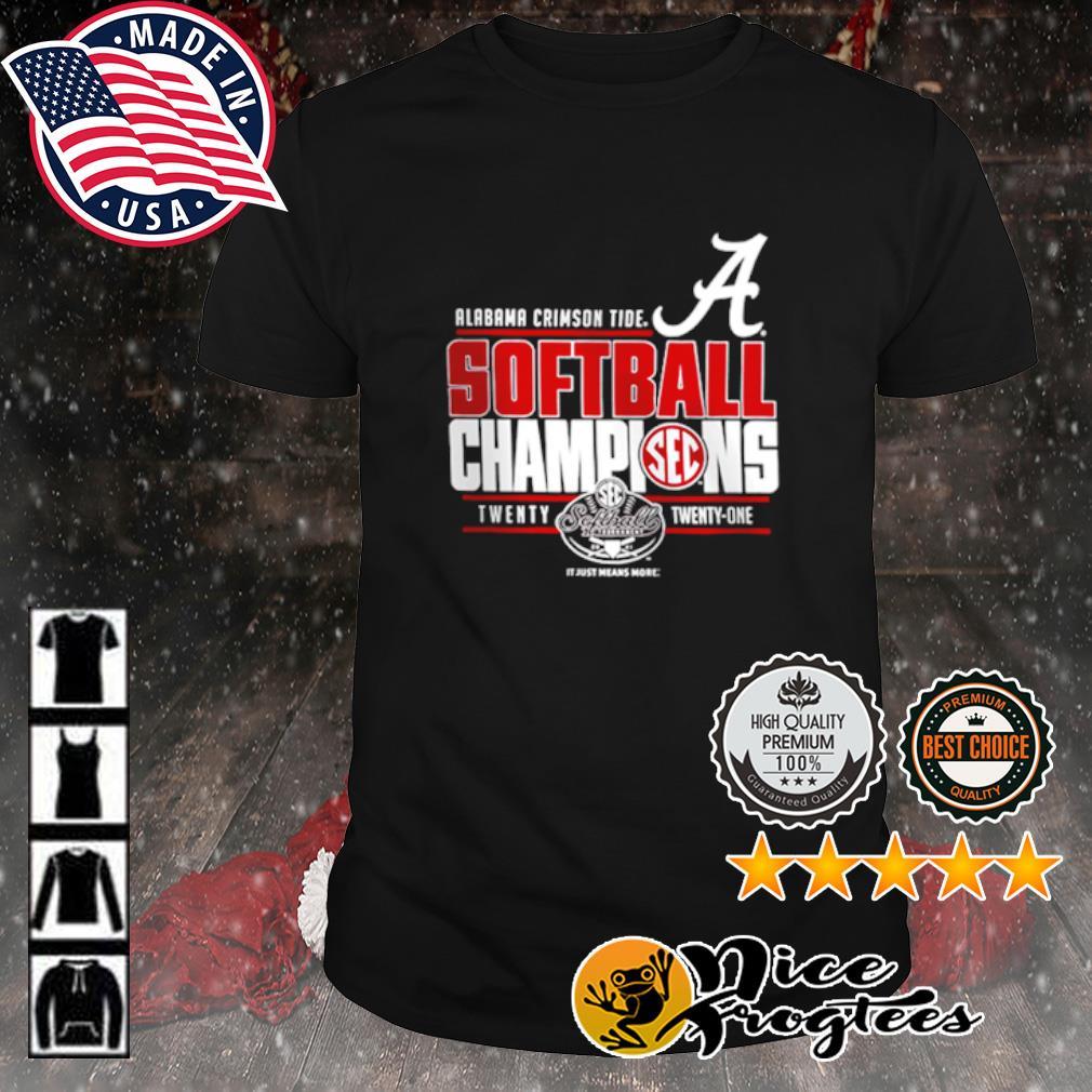 Alabama Crimson Tide 2021 SEC Softball Tournament Champions shirt