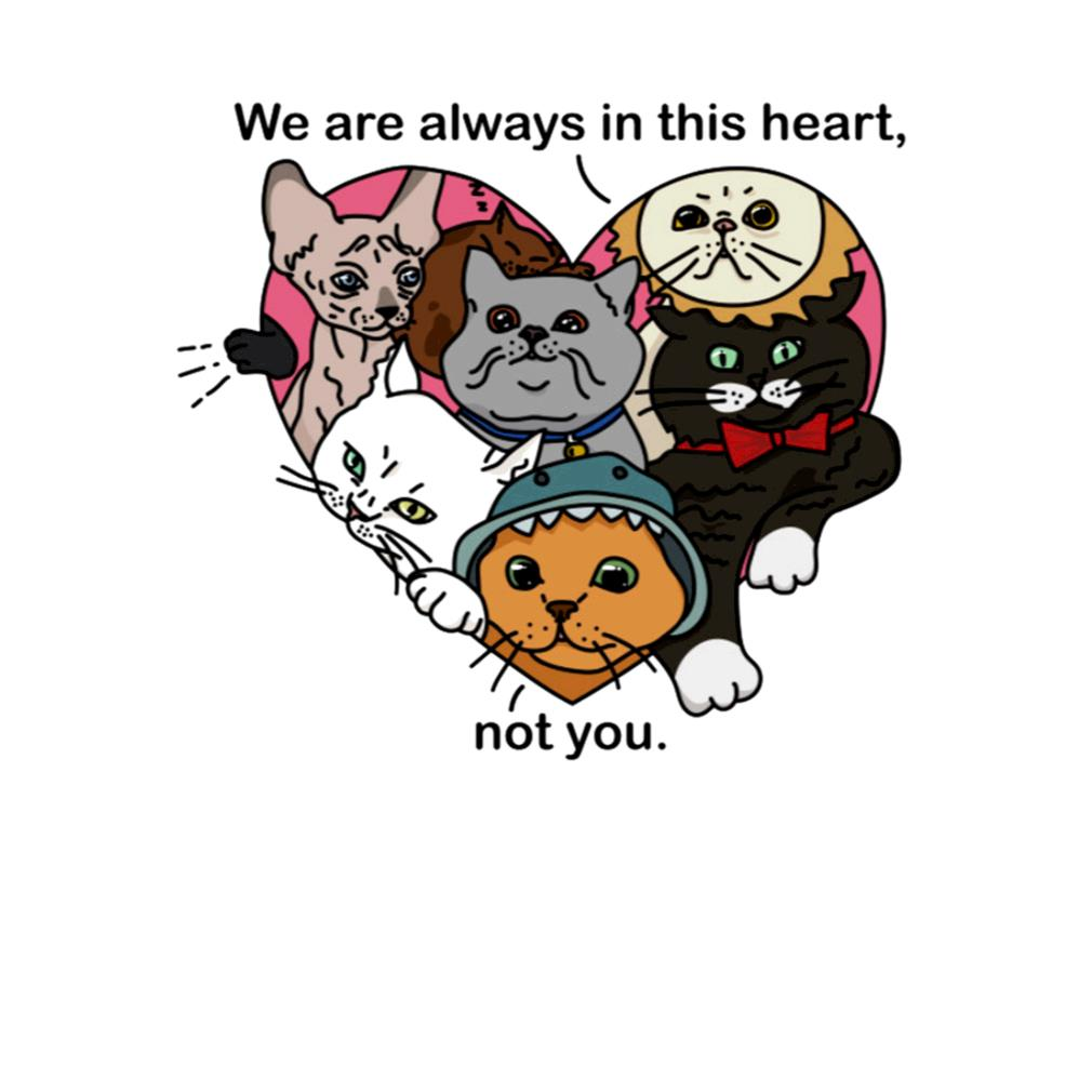 Cats we are always in this heart not you s t-shirt