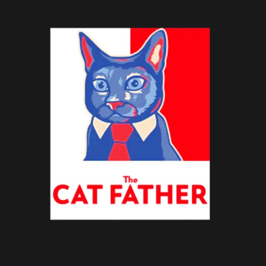 The cat Father Father's Day s t-shirt