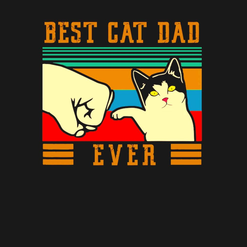 Best cat dad ever vintage Father's day s t-shirt