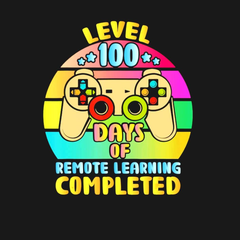 Level 100 days of remote learning completed vintage s t-shirt