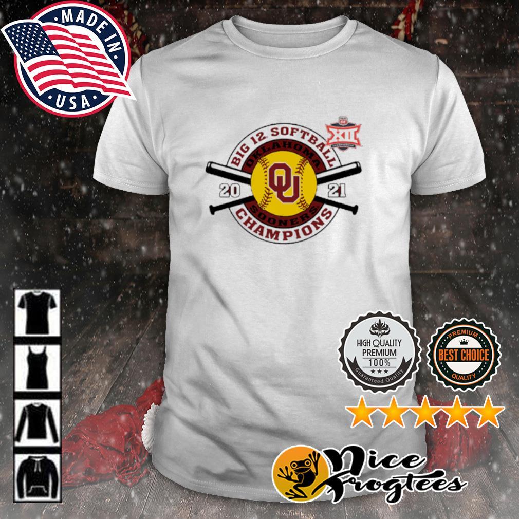 Oklahoma Sooners Crimson 2021 Big 12 Softball Tournament Champions shirt