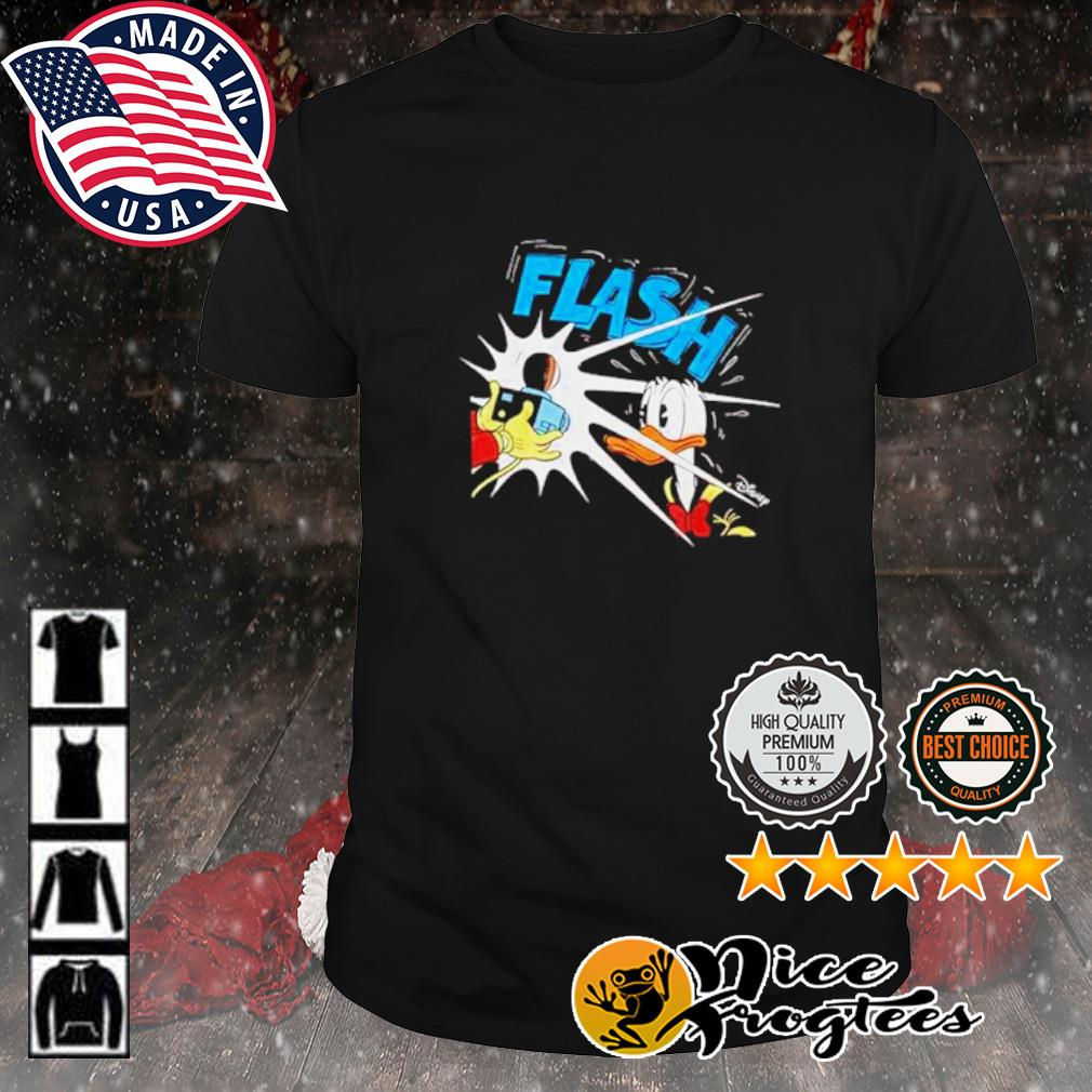 Photography flash Donald Duck Disney shirt