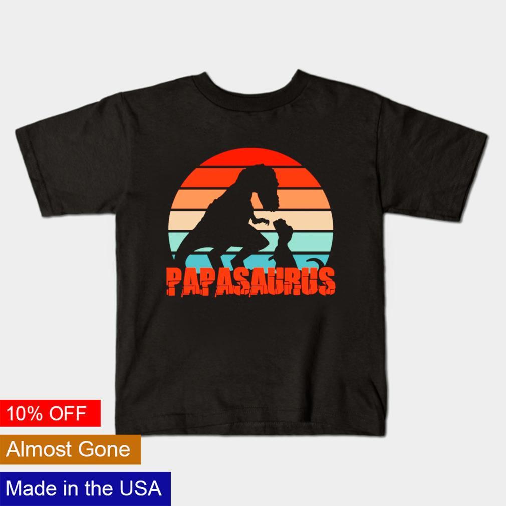 Father's Day Retro Papasaurus vintage shirt