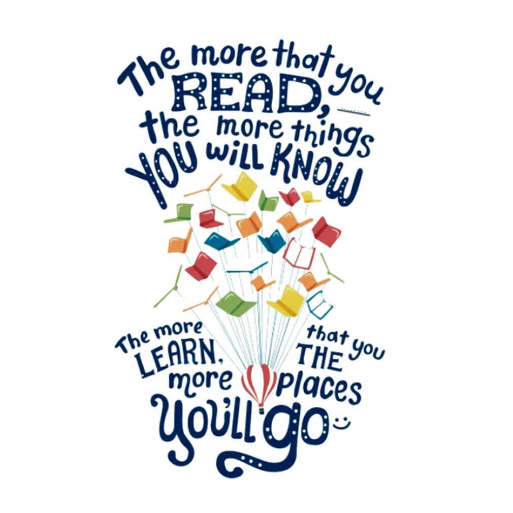 The more that you read the more things you will know s t-shirt